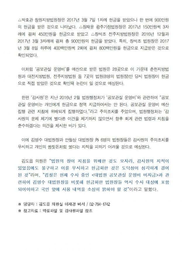 181008_김도읍의원실보도자료24_비자금 논란 공보관실 운영비, 6명의 지방법원장 추가 확인!002.jpg